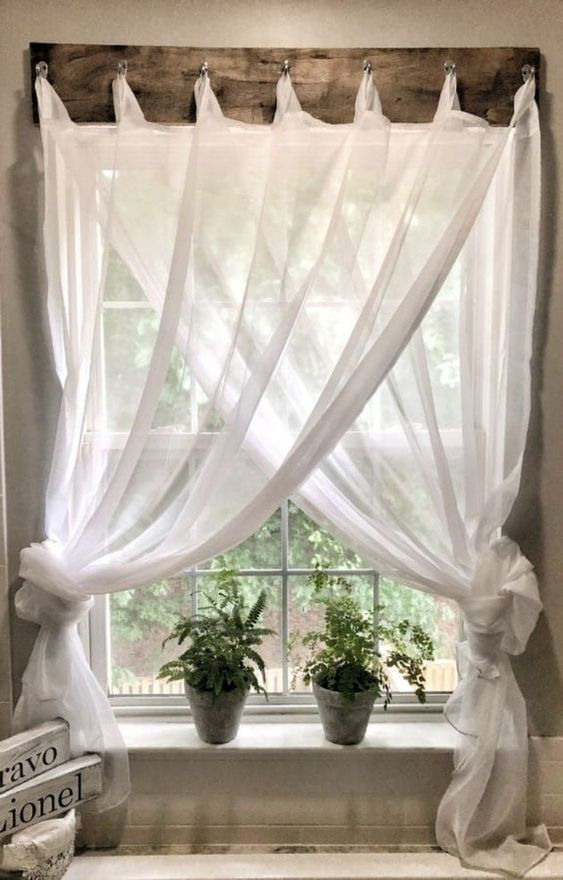 Rustic and Vintage - Make Your Own Curtain Hanger