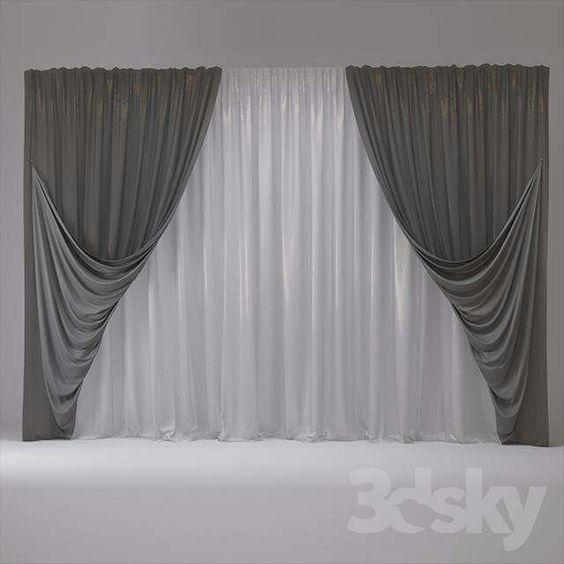 Two Sets of Curtains – Bedroom Curtain Ideas