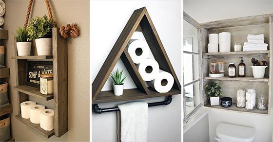25 BATHROOM WALL SHELVES – Decorative Bathroom Shelf Ideas