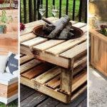 20 DIY GARDEN FURNITURE – DIY Outdoor Wooden Storage Bench