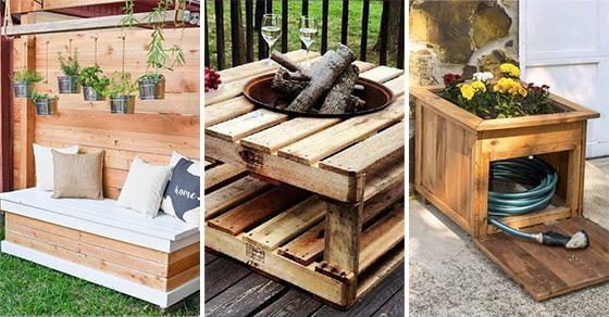 20 DIY GARDEN FURNITURE – DIY Outdoor Wooden Storage Bench