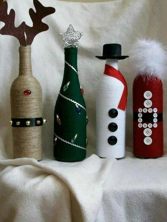 Wintery Bottles - Handmade and Festive Ideas