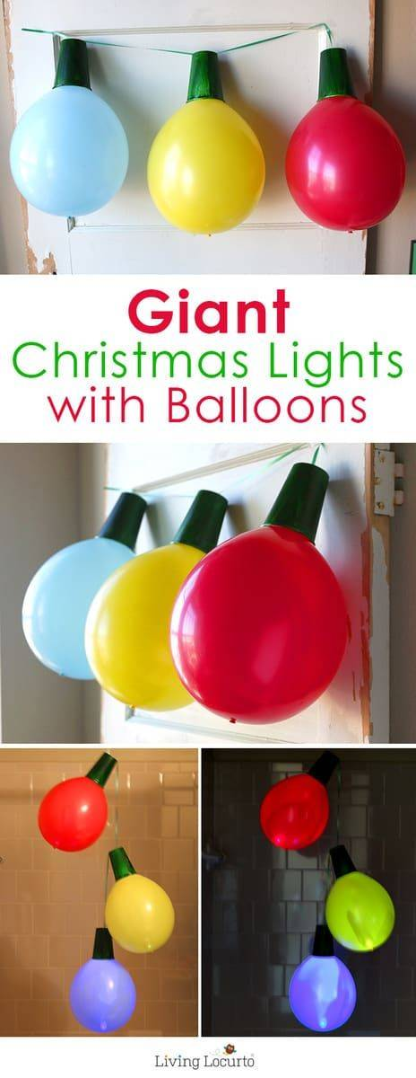 Brilliant Balloon Ideas – A Row of Christmas Lights