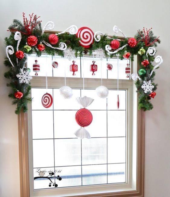 A Joyful Window - Christmas Window Decorations