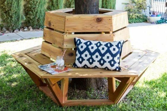 A Cute Bench - Surrounding a Tree