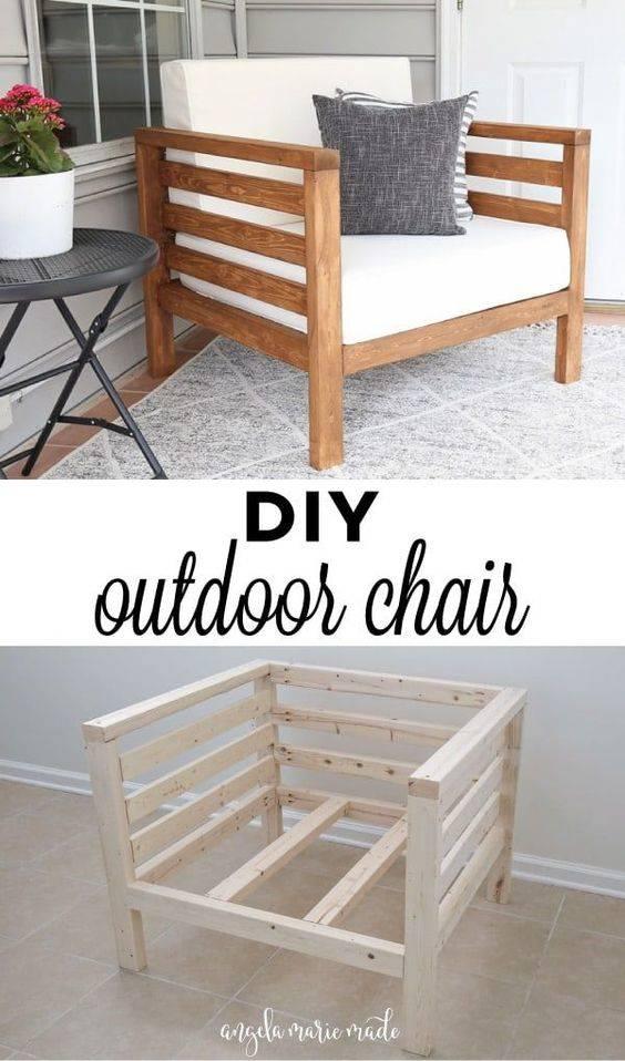A Stylish Chair – DIY Garden Furniture