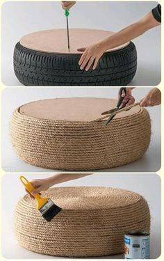 Recycling a Car Tire – An Easy Idea