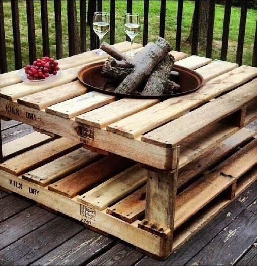 Create a Coffee Table – With a Fireplace
