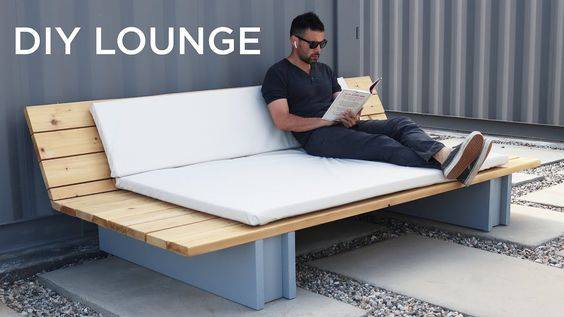 A Sofa for Lounging - DIY Garden Furniture
