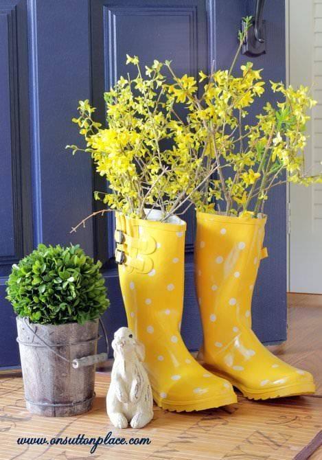 Rain Boot Vase - Spring Home Decor