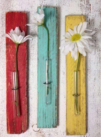 Simple Test Tube Vases - Favourite Flowers