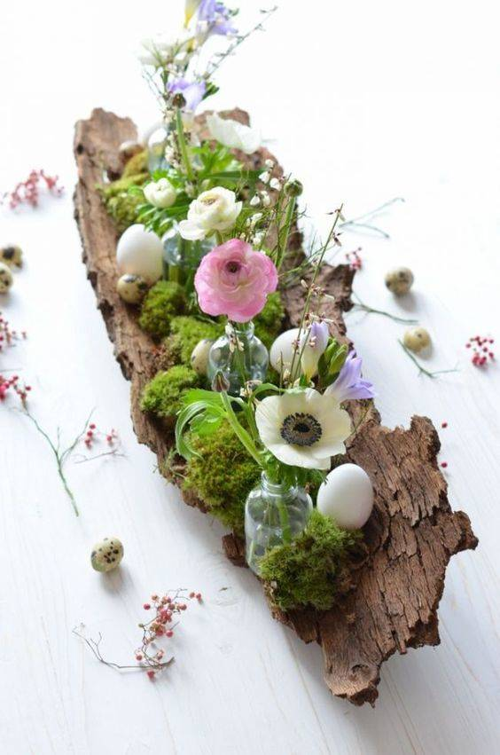 Create a Landscape - On a Piece of Bark