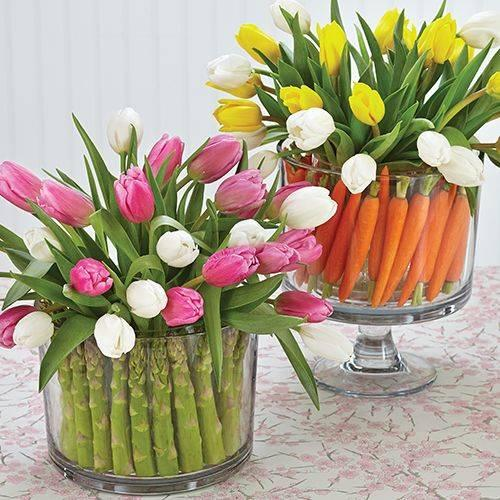 Spring Vegetables - Spring Table Centrepieces