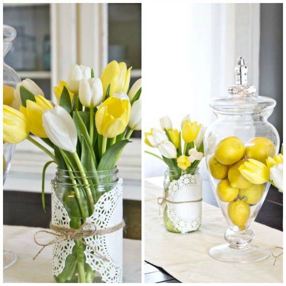 Lemons and Tulips - Bubbly and Sunny