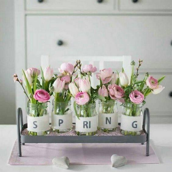 An Essence of Spring - Spring Table Decorations