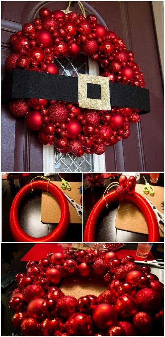 Santa Claus' Suit - Christmas Door Wreaths