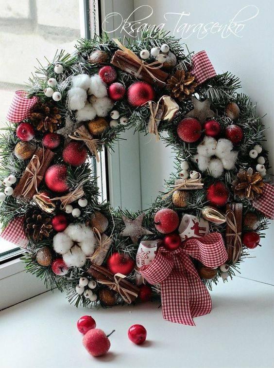 Rustic and Earthy - Christmas Door Wreaths