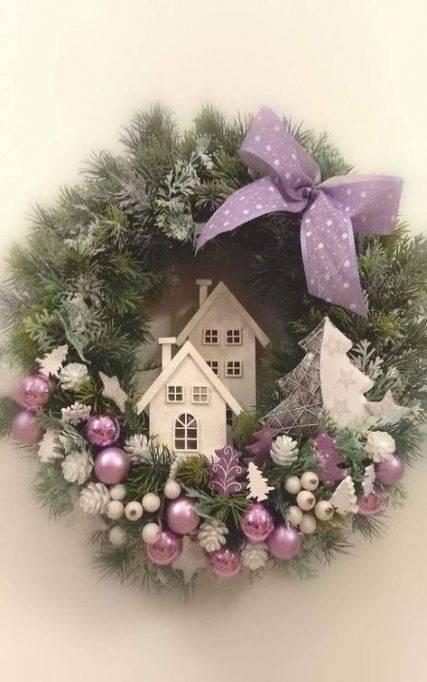 Superb in Purple - Christmas Door Decorations