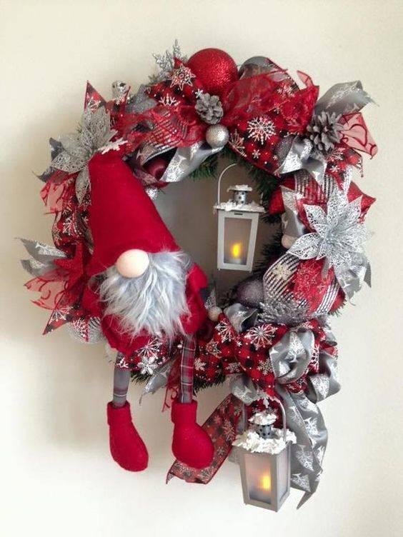 A Christmas Elf - Christmas Door Wreaths
