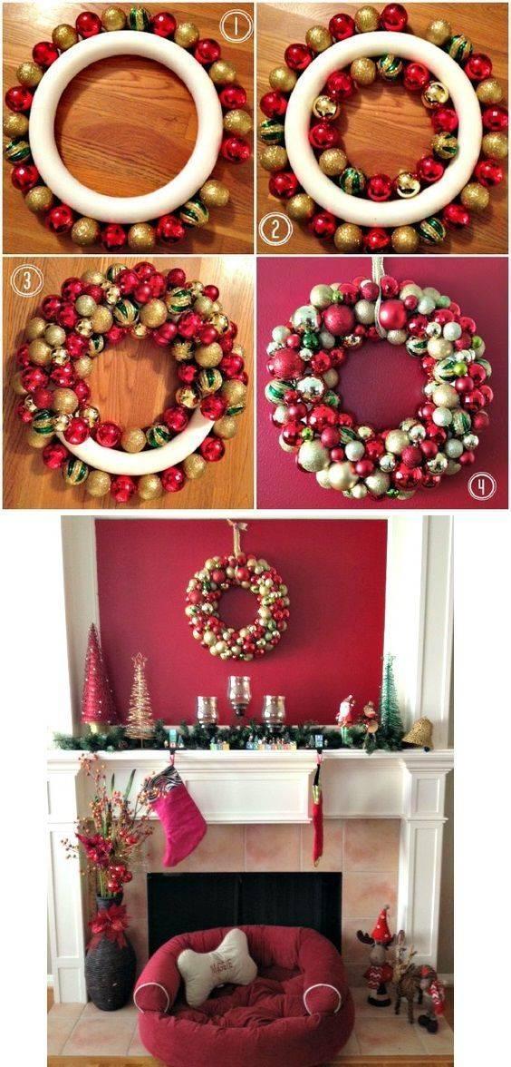 An Array of Ornaments - Christmas Door Wreaths
