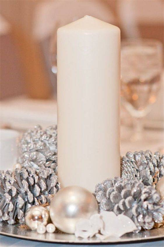 Spectacular in Silver - Christmas Table Centrepieces