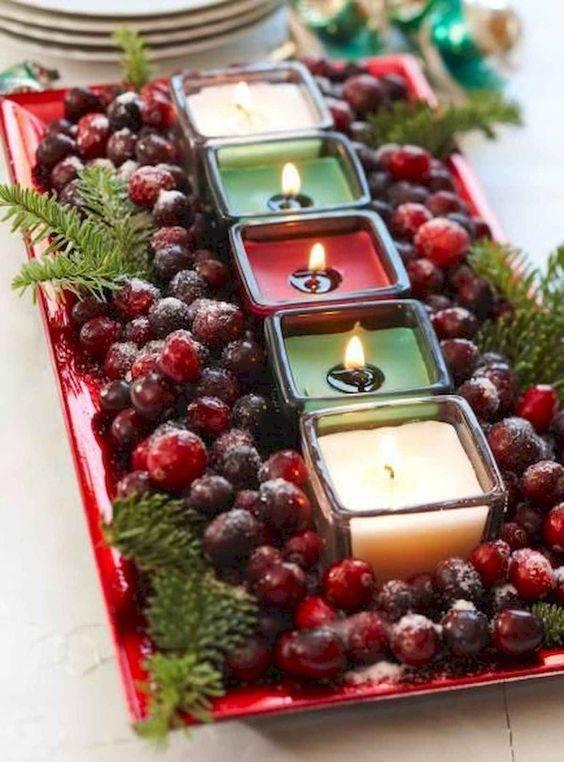 Berries and Candles - Delicate and Tasteful