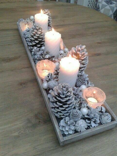 Silver and White - Stunning Christmas Table Centrepieces