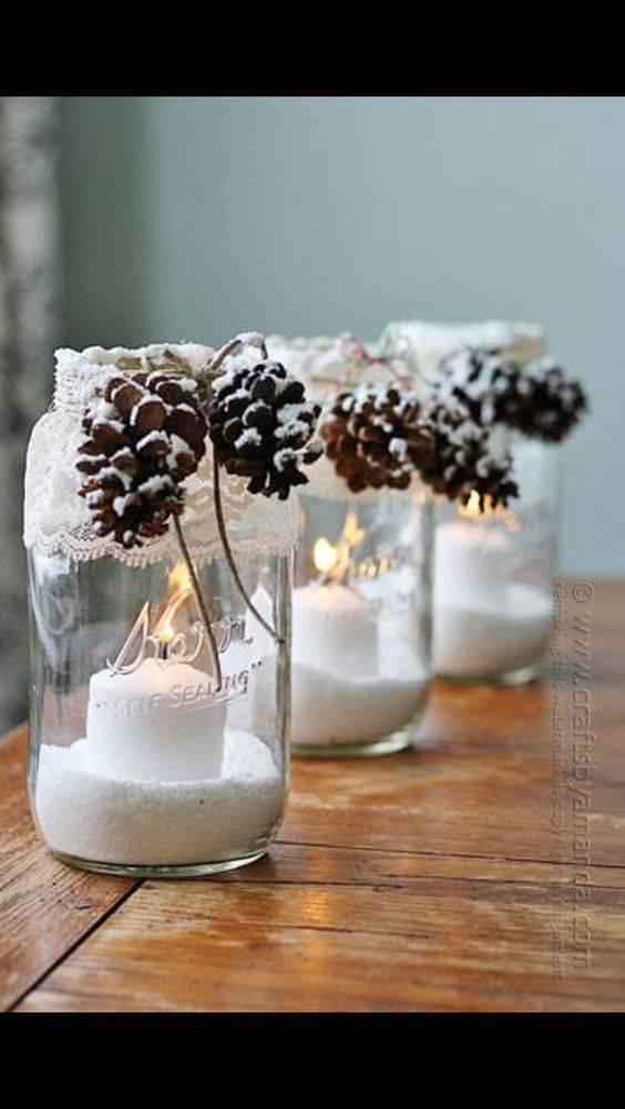 Mason Jar Designs - Homemade Christmas Table Decorations