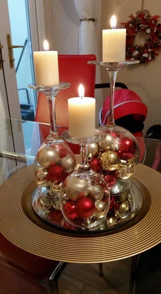 Getting Creative - Wine Glasses as Candle Holders