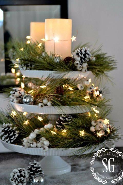A Tray of Winter Goods – Homemade Christmas Table Decorations
