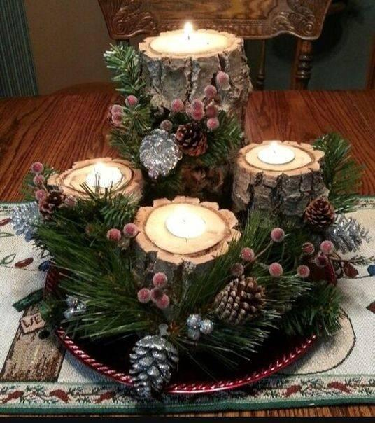 Unique Candleholders - Handmade Christmas Table Decorations