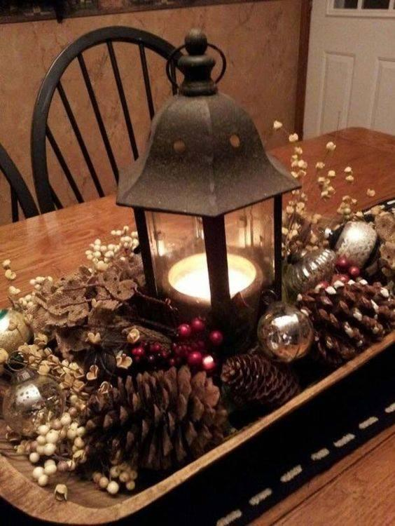 Create a Wintery Atmosphere – Christmas Table Centrepieces