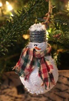 A Snowman Lightbulb - Cute and Festive