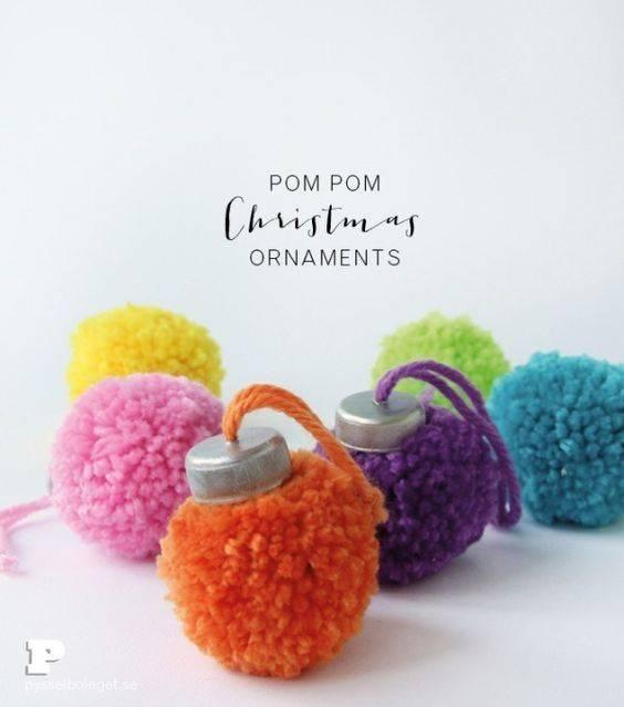 Colourful Pompoms - Christmas Lights