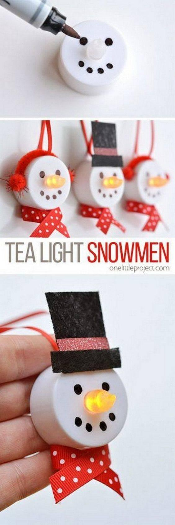 Adorable Tea Lights – In the Form of Snowmen