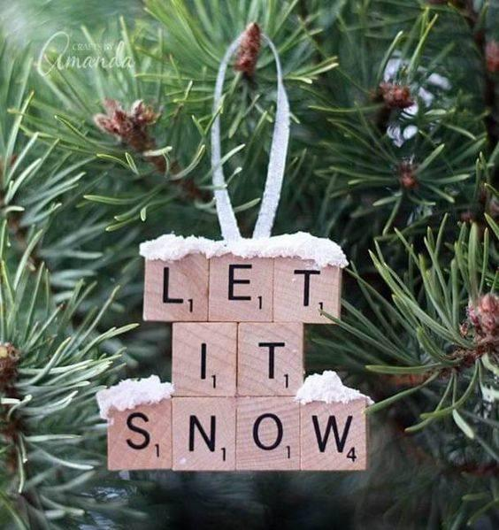 Scrabble Letters – Homemade Christmas Ornaments