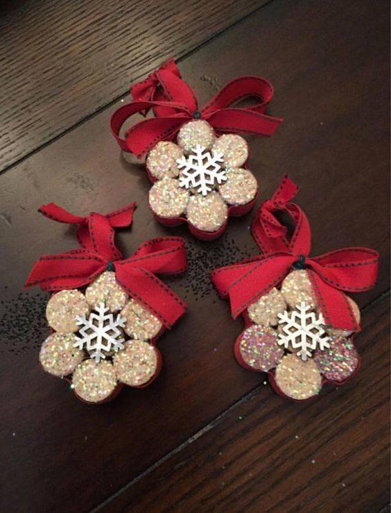 Creative with Corks – A Storm of Snowflakes