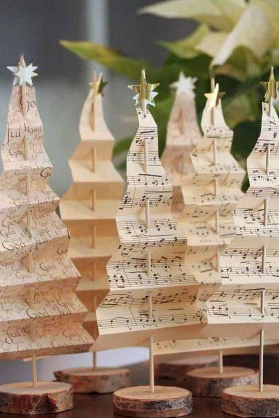 Paper Trees - Homemade Christmas Tree Decorations