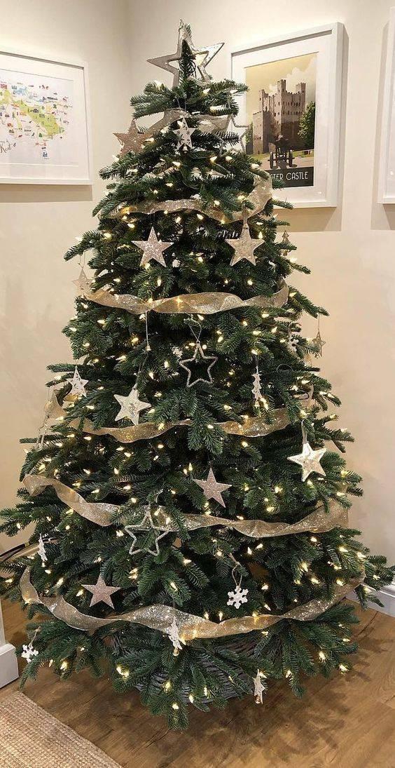 A Starry Night - Elegant Christmas Tree Decorating Ideas