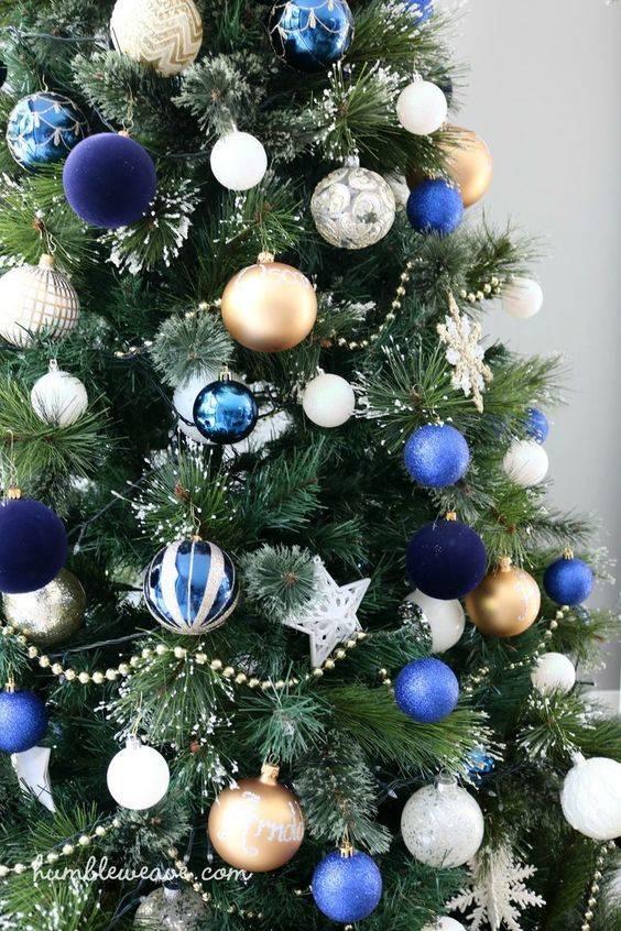 Bursts of Blue - Best Christmas Tree Decorations