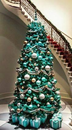 Terrific Turquoise - Elegant Christmas Tree Decorating Ideas