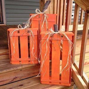 Orange Crates - Transform Them into Pumpkins