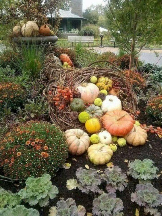 Build a Nest of Pumpkins - Fall Decorations for Outside