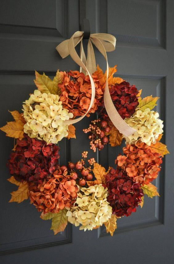 Happy Hydrangeas - Fall Decorations for Outside