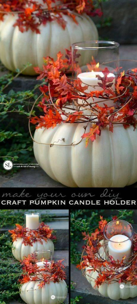 Beautiful Candleholders - Fall Decorating Ideas for Outside