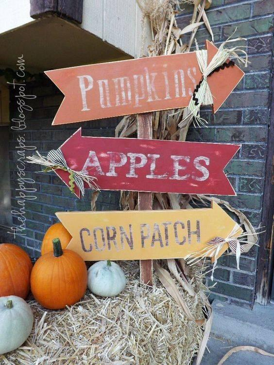 A Set of Signs - Autumn Activities
