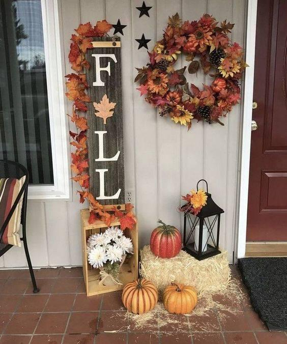 A Fall Sign - Fall Decorations for Outside