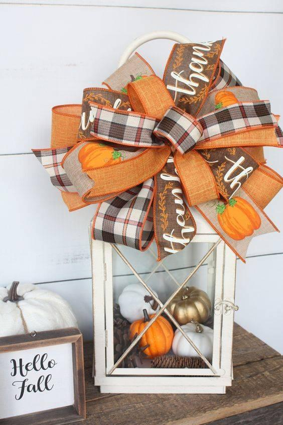 A Lovely Lantern - With Miniature Pumpkins