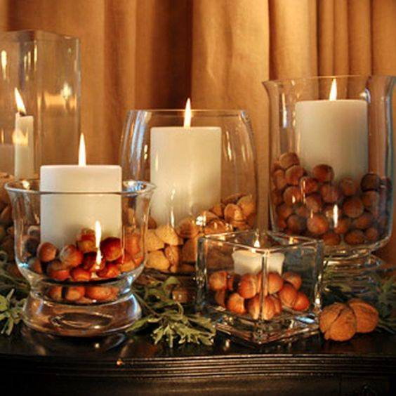 A Selection of Nuts – Fall Table Decor Ideas