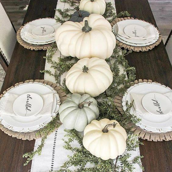 White and Bright - Fall Table Decor Ideas